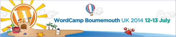 WordCamp Bournemouth UK 2014 logo strip version